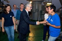 Imagen de la visita del Rector José Regidor
