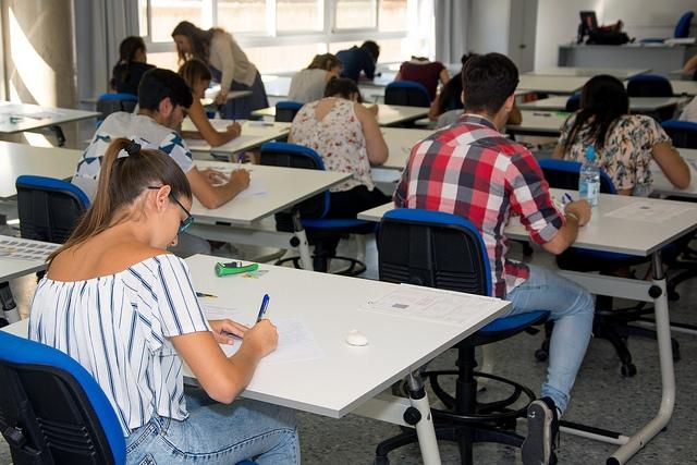 Imagen de archivo de las Pruebas de Acceso a la Universidad en el Campus de Tafira