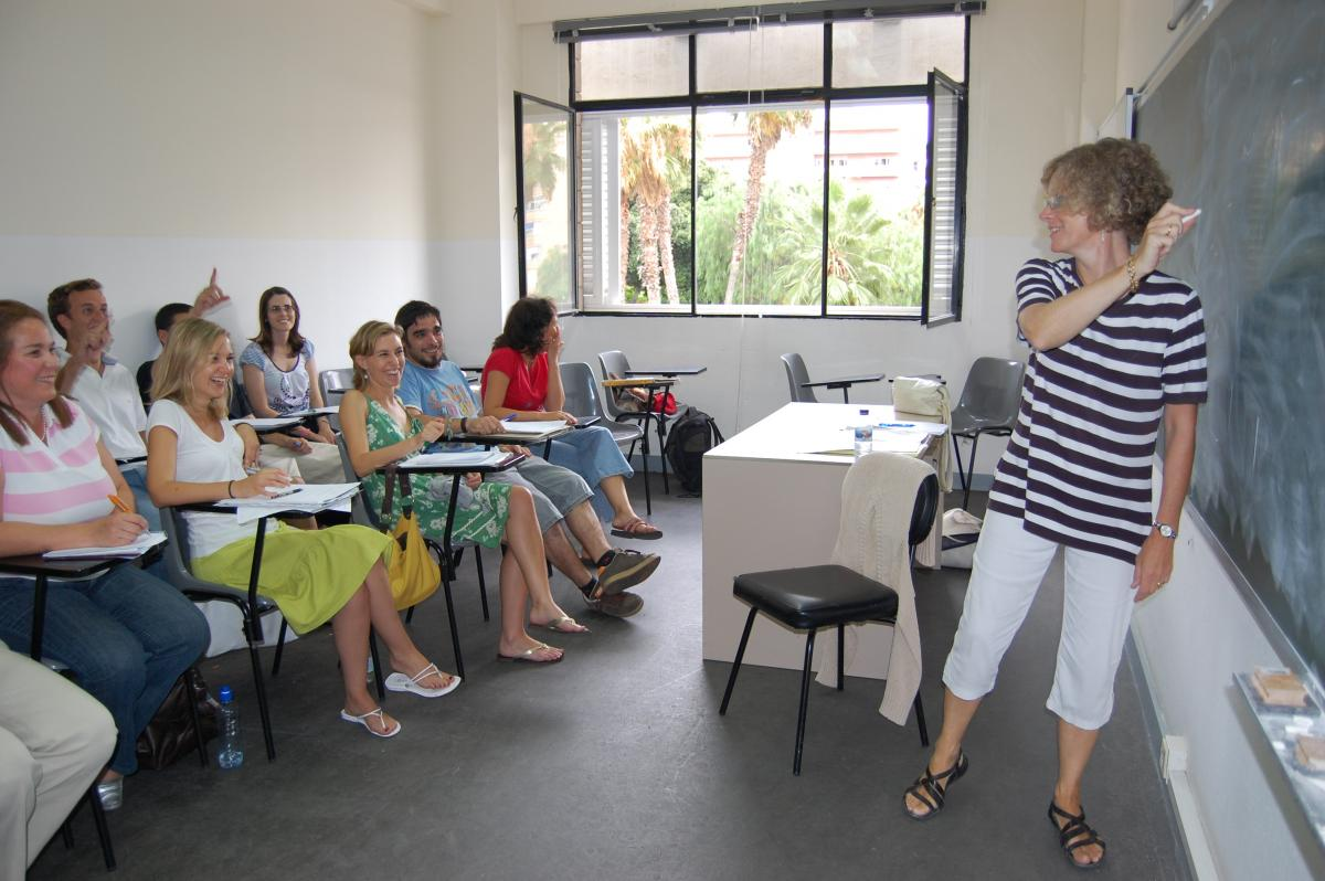 Imagen de archivo de una clase del Aula de Idiomas de la ULPGC