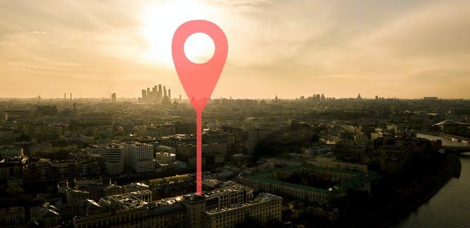 Imagen de una geolocalización en una ciudad