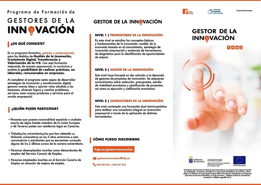 Nuevos Cursos Del Programa De Gestores De La Innovacion Promotor De La Innovacion Y Promotor Digital Ulpgc Universidad De Las Palmas De Gran Canaria