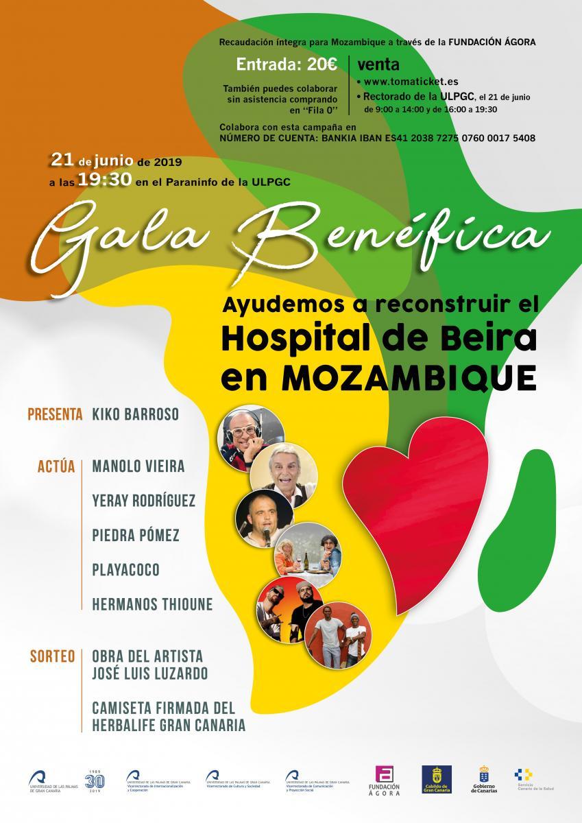 """A la venta las entradas de la Gala Benéfica """"Ayudemos a reconstruir el Hospital de Beira en Mozambique"""""""
