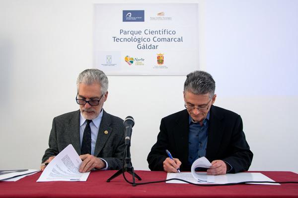 Firma del convenio de colaboración con la empresa norteamericana Brinergy Tech