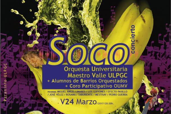 Detalle del cartel del concierto