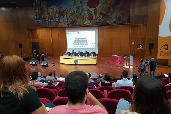 Imagen de la inauguración de la jornada, en el Paraninfo de la ULPGC