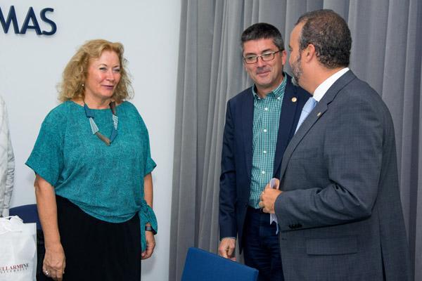 Otra imagen de la visita a la Sede Institucional de la ULPGC