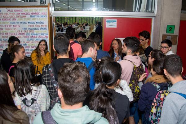 Imagen de la convocatoria de Junio de 2018 de la EBAU en el Campus de Tafira