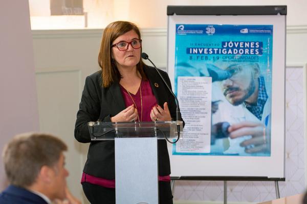 La Directora General del Ministerio de Ciencia, Innovación y Universidades Teresa Riesgo, durante su intervención