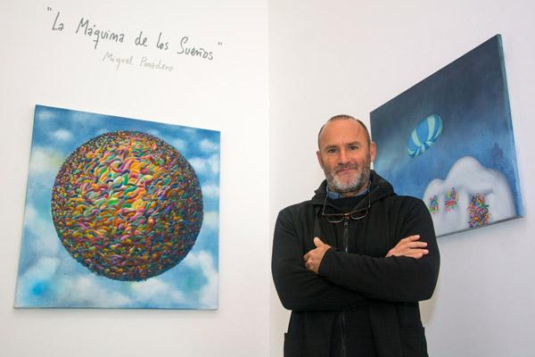 El artista Miguel Panadero